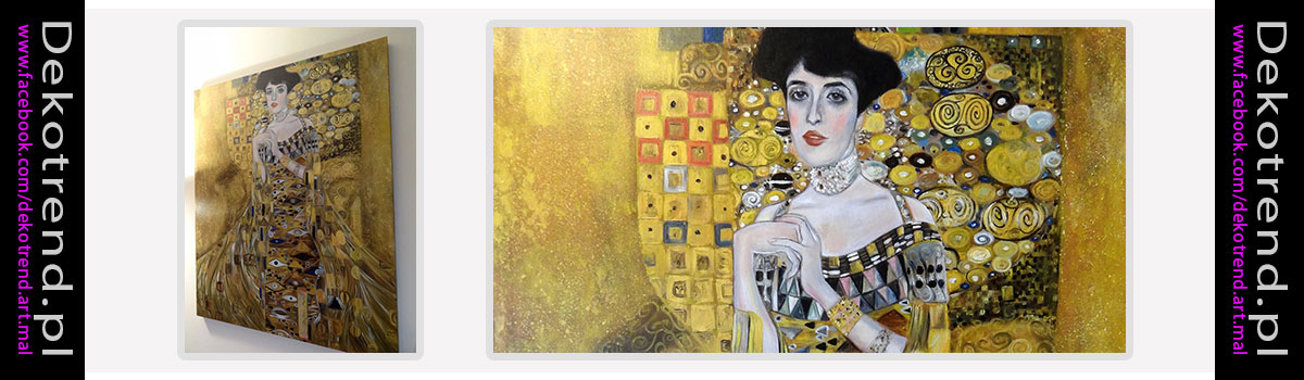 Klimt obrazy Adele Gustava Klimta.