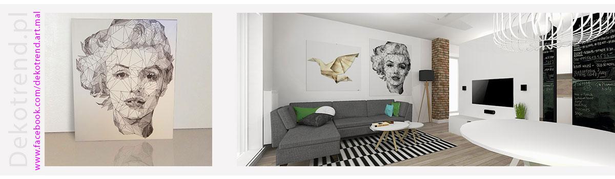 Obrazy do salonu - nowoczesny obraz Kobiety.
