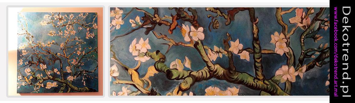 Obraz do salonu kwiaty Gałęzie Migdałowca - Vincent van Gogh.