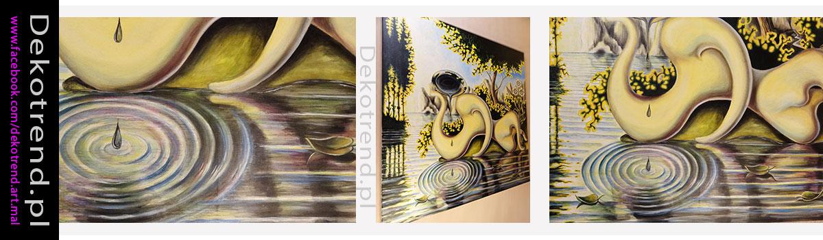 Obrazy olejne GUILLERMO PEREZ VILLALTA Las lagrimas de Narciso