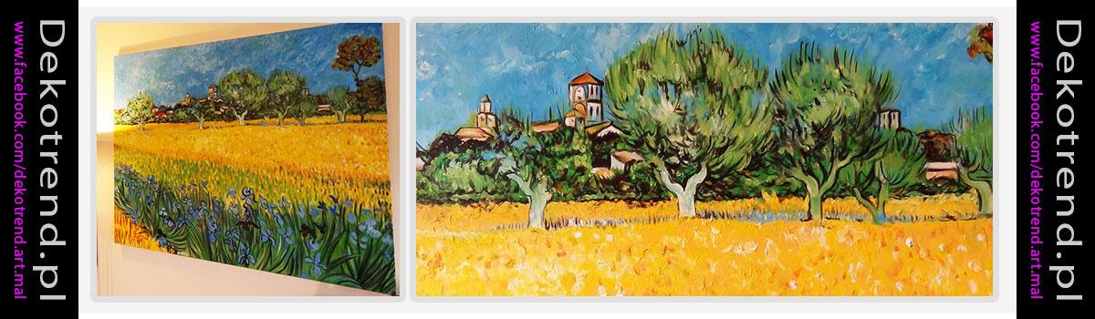Obrazy Widok na Arles z irysami - Vincent van Gogh.